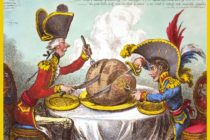caricature gillray plum pudding satire