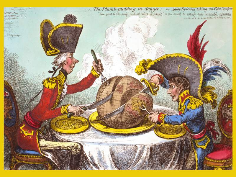 caricature gillray plum pudding satire example